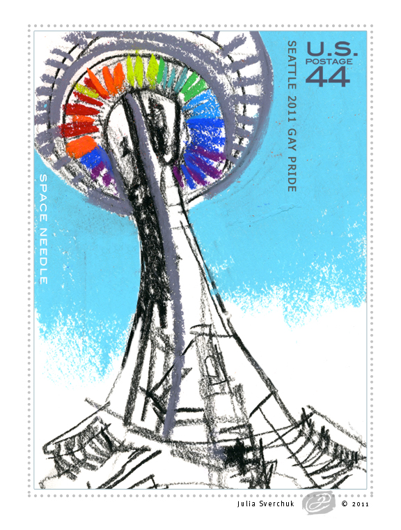 Commemorative stamp for Seattle Gay Pride 2011