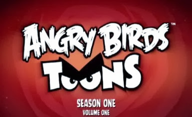 Poster Of Hollywood Film Angry Birds Toons Volume 1 (2013) In 300MB Compressed Size PC Movie Free Download At worldfree4u.com