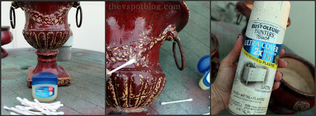 How to make shabby chic pottery