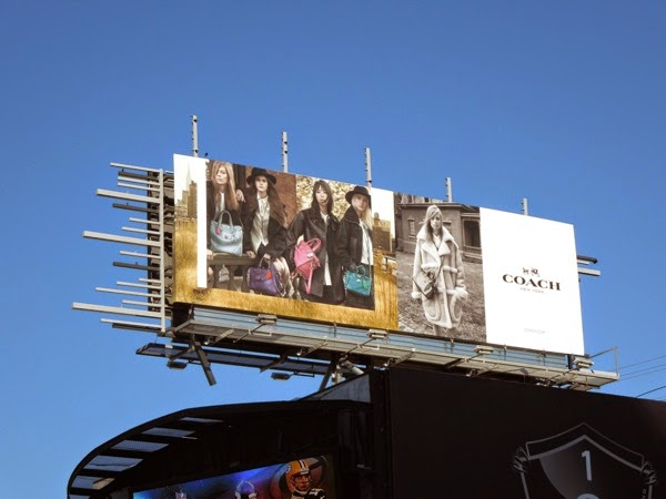 Coach Fall 2014 fashion billboard