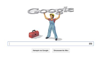 Google Celebrates Labor Day or ' Araw ng mga Manggagawà ' via Google Doodle