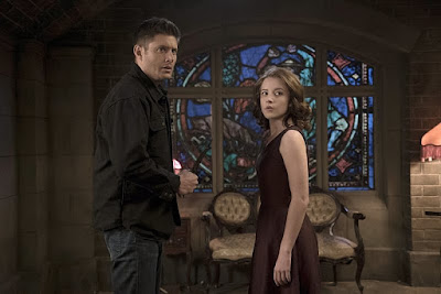 "Jensen Ackles as Dean Winchester and Samantha Isler as Amara in Supernatural 11x06 ""Our Little World"""