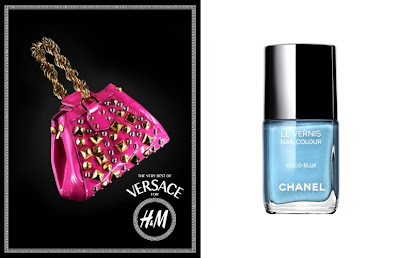 Versace for H&amp;M Bag, Chanel Coco Blue Nail Colour