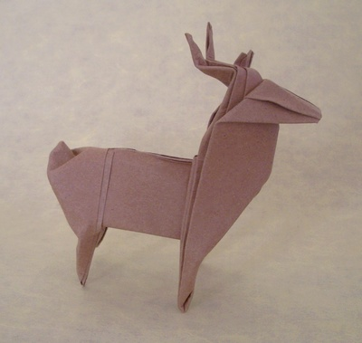 origami deer montroll christmas 3d origami instructions easy