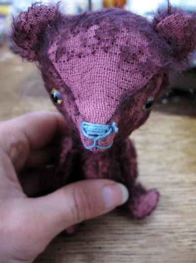 mohair antique stick bear
