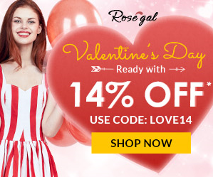 Rosegal V-Day Promo