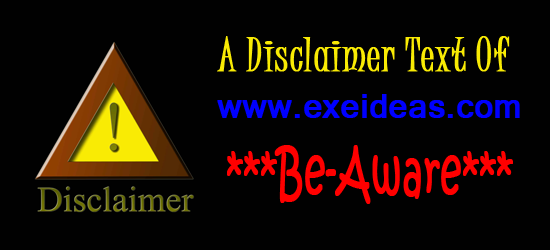 A Disclaimer Text Of www.exeideas.com