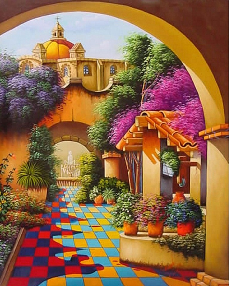 Casa campesina colombiana la galeria de cuadros paisajes - La casa del cuadro ...
