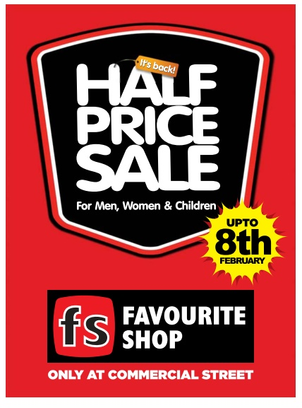 Half price sale in FS - Favourite shop @Bangalore |Only at commercial street.