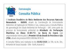 Convocação Consulta Pública / Acaraú