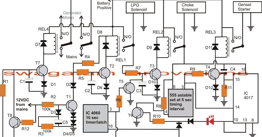 electrical engineering world ats automatic changeover relay circuit for generator