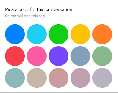 كيفية تغيير لون الشات وعلامة الاعجاب واسماء اصدقائك على فيس بوك ماسنجر
