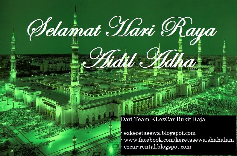Raya Aidiladha Kereta sewa Shah Alam