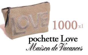 1000 pochettes Love Maison de Vacances