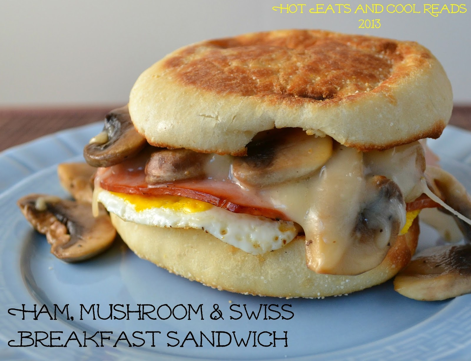 Ham, Mushroom and Swiss Breakfast Sandwich ( click here to print ...