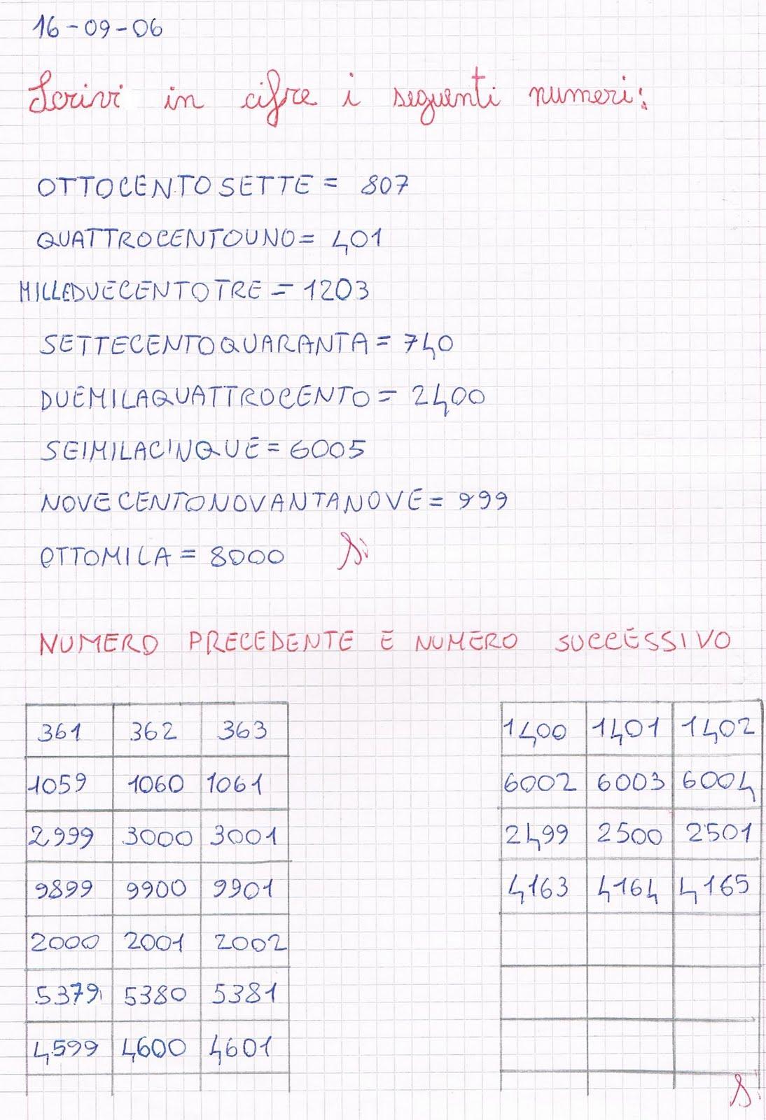 Estremamente Matematica per la scuola primaria: primi giorni di scuola in  DB72