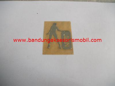 Emblem Alumunium 3M Kecil 1 Pcs Nos Cewek