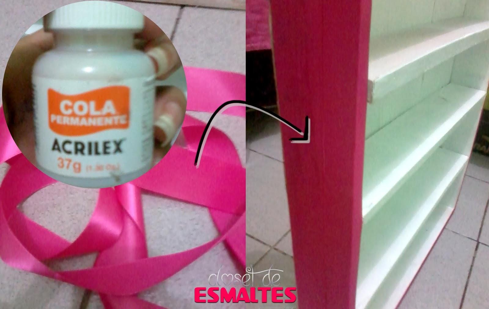 DIY: Porta Esmaltes de Parede