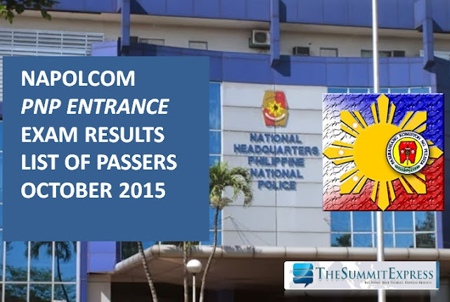 NAPOLCOM releases October 2015 PNP entrance exam results