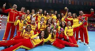 medalla de plata equipo de balonmano femenino España Juegos Olímpicos de Londres 2012
