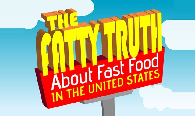 Image: The Fatty Truth about Fast Foods in the US #infographic