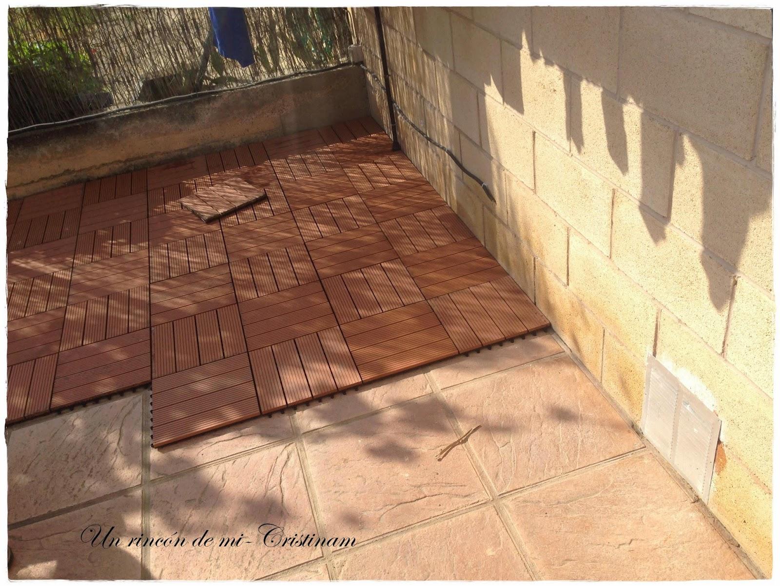 Un rinc n de mi reforma en el jard n ahora si que - Suelos para terrazas exteriores sin obra ...