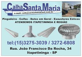 Calhas Santa Maria Pingadeiras, Coifas, Dutos em Geral, Exaustores Eólicos