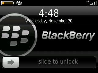 BlackBerry Automatically Lock With Curve Slider