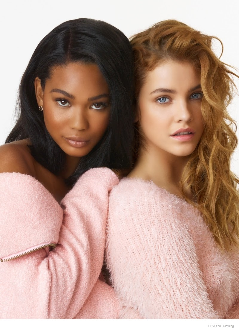 Chanel Iman and Barbara Palvin feature for Revolve's Fall 2014 Campaign