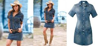 Modelo de vestido jeans com chapéu - dicas e fotos