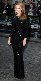 Kylie Minogue strikes a pose for cameras at Holy Motors movie premiere in London