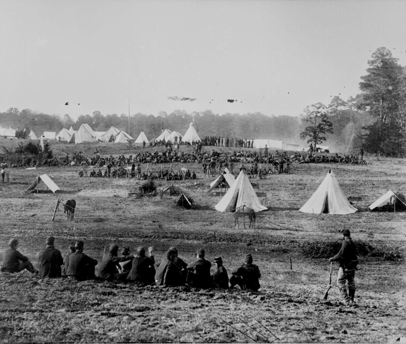 Guerra Civil Estadounidense - soldados confederados capturados