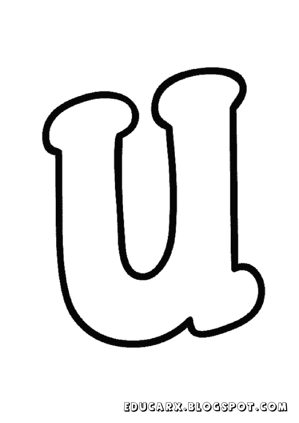 Molde da letra minuscula u