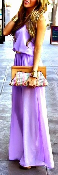 see more lavender maxi dress & cuffs