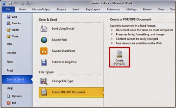 Tech Support: How To Convert Word 2010 Document Into PDF