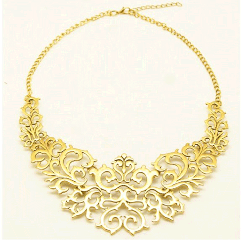 light gold chunky necklace