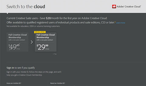 Creative Cloud special offer