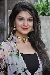 Siya Gautam Looks Super Cute tight long dress at Pilavani Perantam Telugu Movie Opening