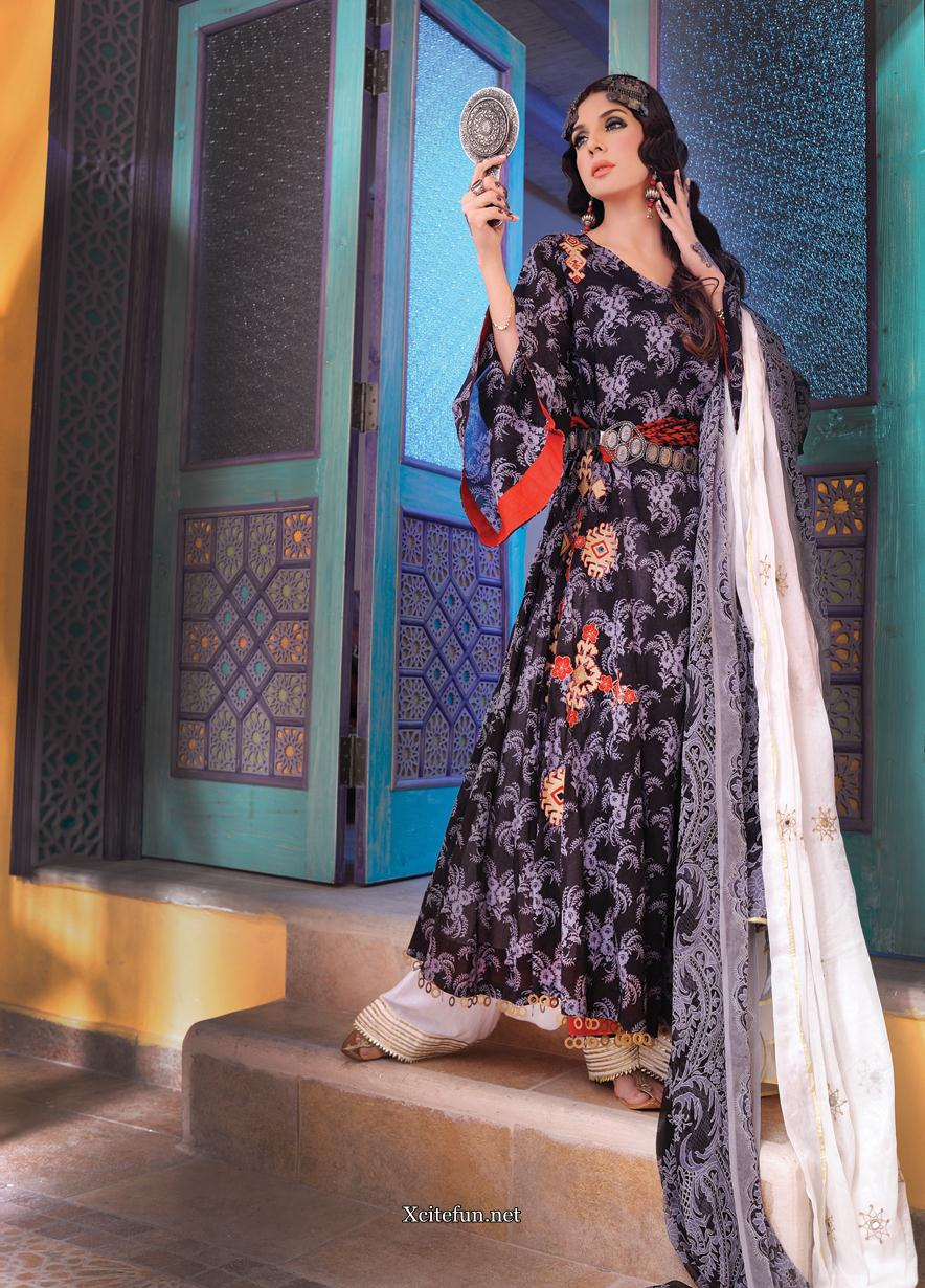 Mahnoor Baloch Long Shirt And Punjabi Salwar Nishat Lawn Collection
