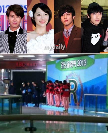 Minho, L, Lee Joon, Jonghyun (CNBLUE), Kwanghee dan Sulli