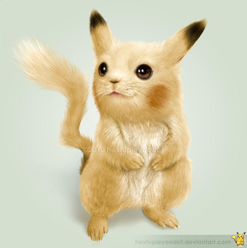 Imagem digital do Pikachu bem  realista