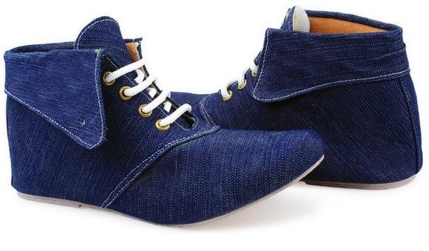 Sepatu: Sepatu Flat Booth Blue Jeans Giardino