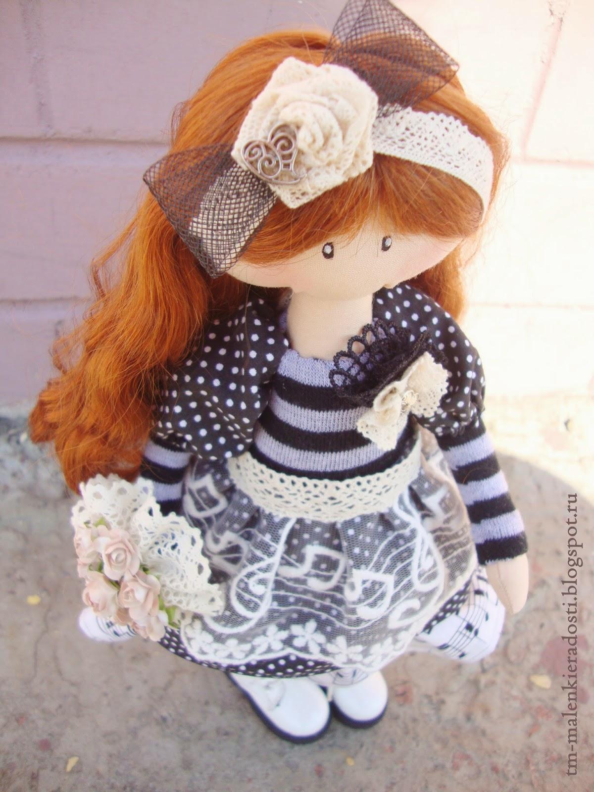 рыженькая кукла ручной работы
