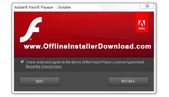 Adobe Flash Player labeled Shockwave Flash in Internet Explorer and Firefox is freeware