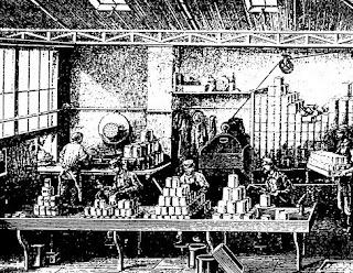 Fabrica de latas de hojalata