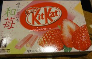 Strawberry Kit Kats in Japan