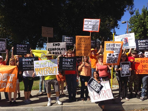 Rally for net neutrality, Los Angeles, CA - July 23, 2014. (Photo by Free Press)