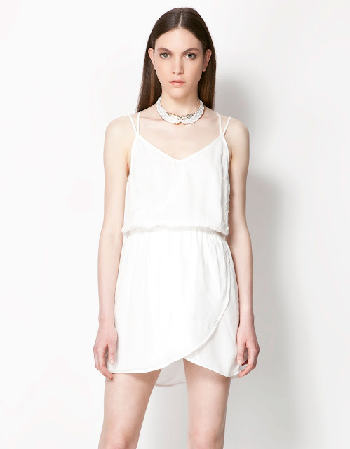 askılı çift katlı elbise, beyaz renkli kısa elbise