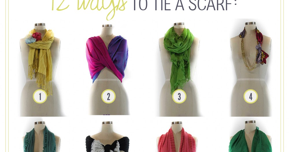 how to wear a scarf around your head