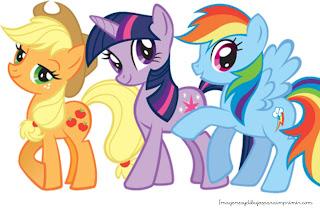 Apple jack, rarity, rainbow dash en dibujo para imprimir Dibujos de mi pequeño pony para imprimir